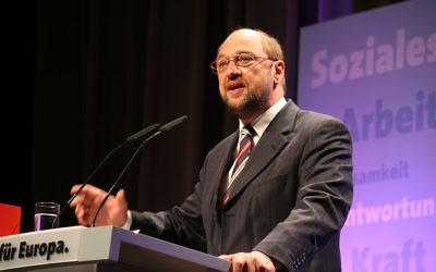 Martin Schulz (Crédit : CC BY SA 3.0/Wikimedia commons)