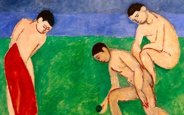 Le jeu de boules par Henri Matisse (Crédit : Hermitage Museum Foundation Israel)