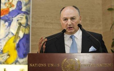 Moshe Kantor, président du congrès juif européen (Crédit : Acvec/Wikimedia commons/CC BY SA 3.0)