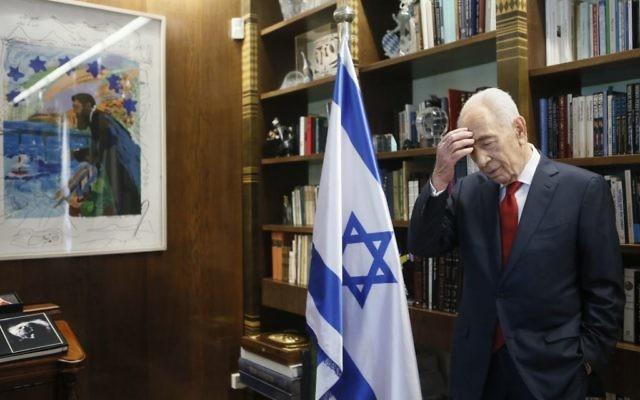 Shimon Peres (Crédit : Miriam Alster/Flash 90)