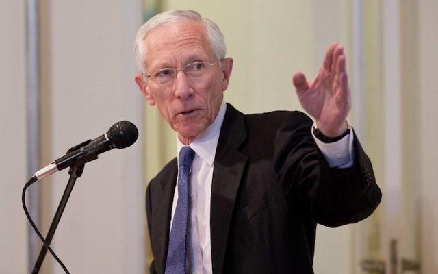 Stanley Fischer, l'ancien gouverneur de la banque d'Israël (Crédit : autorisation JPC)
