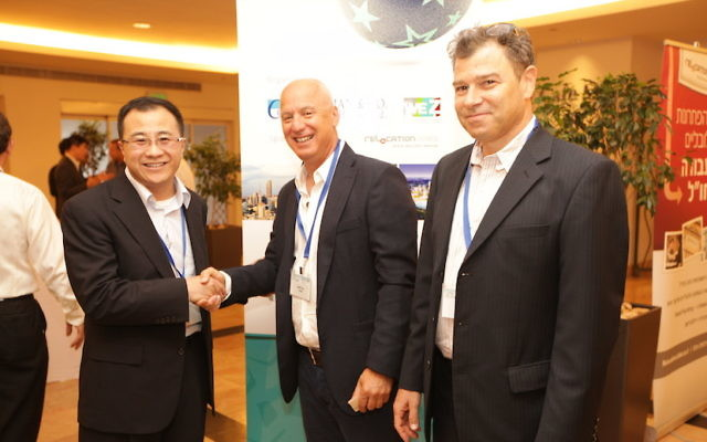 (de gauche à droite) Stone Chi, David Tzur et Hagai Ravid (Crédit : autorisation)