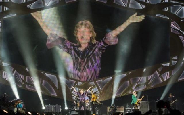 Mick Jagger au concert de Tel Aviv - 4 juin 2014 (Crédit : Jack Guez/AFP)