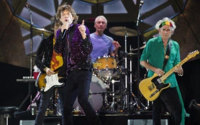 Les Rolling Stones en concert à Tel Aviv - 4 juin 2014 (Crédit : Jack Guez/AFP)