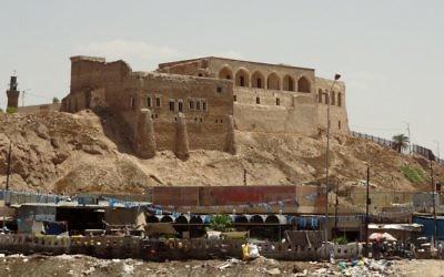 Une ville assiégée de Kirkuk où un assaut par l'EIIL a été lancé le 9 juin (Crédit : AFP PHOTO/MARWAN IBRAHIM)