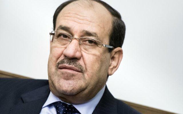 Nouri al-Maliki (Crédit : BRENDAN SMIALOWSKI / AFP)