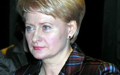 Dalia Grybauskaite (Crédit : Algirdas/Wikimedia commons/CC BY-SA 3.0)