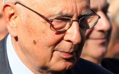 Giorgio Napolitano (Crédit : Roberto Ferrari/Flickr/CC BY-SA 2.0)