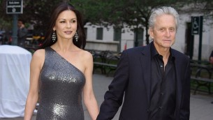 Michael Douglas et Catherine Zeta-Jones (Crédit : David Shankbone/Wikimedia Commons/File)