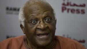 Desmond Tutu (Crédit : Wissam Nassar/Flash 90)