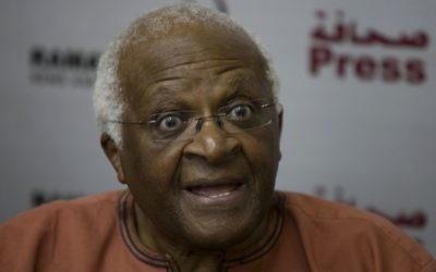 Desmond Tutu (Crédit : Wissam Nassar/Flash90)