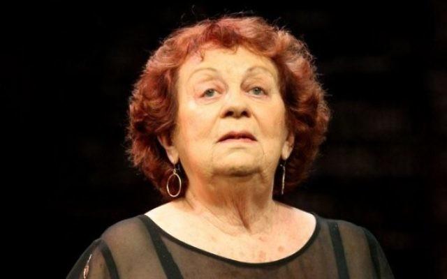 Hanna Maron (1923-2014) (Crédit: Moshe Shai/Flash90/File)