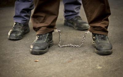 Un prisonnier. Illustration. (Crédit : Flash 90)
