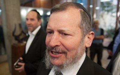 Uri Lupolianski, maire de Jérusalem de 2003 à 2008 (Crédit : Ben Kelmer/Flash90)