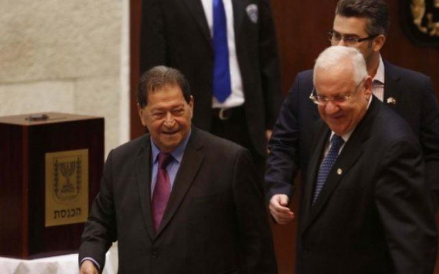Fouad (gauche) et Reuven Rivlin (Crédit : Flash 90)