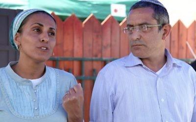 Les parents d'Eyal Ifrach (Crédit : Gideon Markowicz/Flash90)