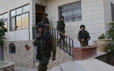 Des soldats de la brigade Kfir près de Hebron   (Crédit : porte-parole de l'armée/Flash90)