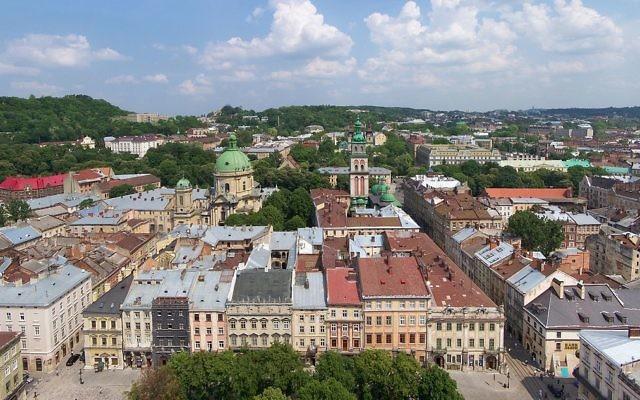 Vue sur Lviv en Ukraine (Crédit : Wikimedia Commons/Lestat/Jan Mehlich/CC BY-SA 2.5)