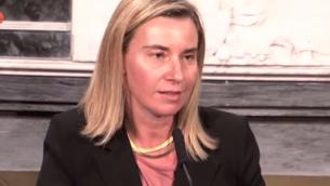 Federica Mogherini (Crédit : capture d'écran YouTube)