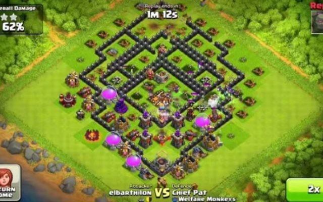 Le jeu Clash of Clans (Crédit : capture d'écran Youtube)