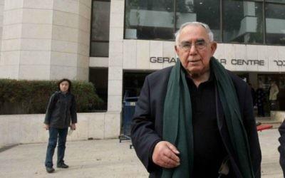 Avraham Shalom, ancien chef du Shin Bet (Crédit : Flash 90)