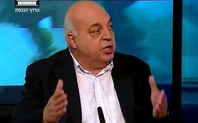 Afu Agbaria, député Hadash (Crédit : capture d'écran chaîne parlementaire israélienne)