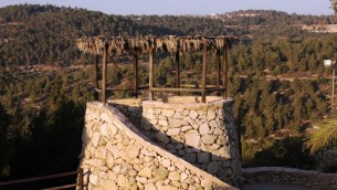 Vue de Yad Hashmona (Crédit : Schmuel Bar-Am)