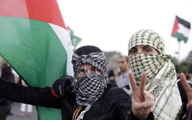 Manifestation aniti-israélienne à Paris - 23 juillet 2014 - (Crédit : AFP)