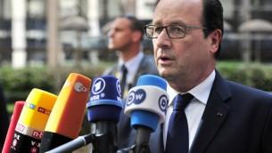 François Hollande (Crédit : AFP)