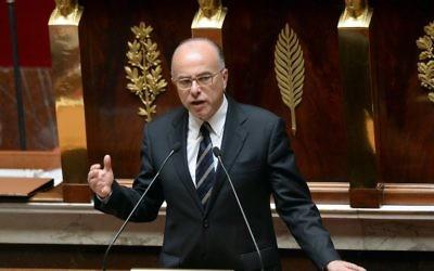 Bernard Cazeneuve à l'Assemblée nationale. (Crédit : Pierre Andrieu/AFP)