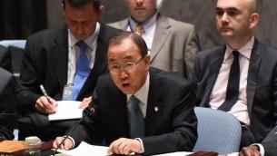 Ban Ki-moon (Crédit photo : Don Emmert/AFP)