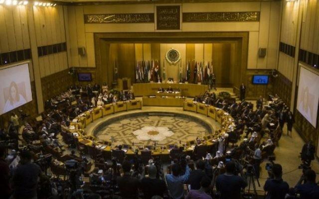 Réunion d'urgence des ministres des Affaire étrangères arabes au Caire - 15 juillet 2014 (Crédit : Khaled Desouki/AFP)