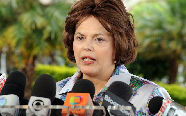 La présidente Dilma Roussef (Crédit : Roosewelt Pinheiro/Abr - Agência Brasil/CC BY  3.0/Wikimedia commons)