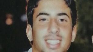 Eitan Barak, le premier soldat mort à 20 ans pendant l'opération terrestre à Gaza - 18 juillet 2014 (Crédit : autorisation)