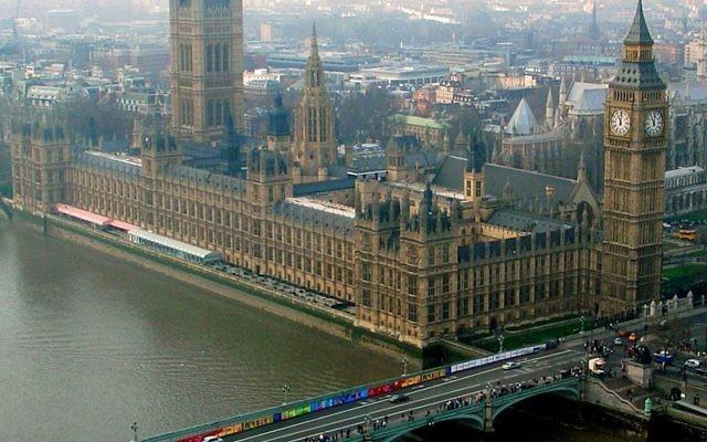 Vue aérienne sur le Parlement britannique à Londres (Crédit :Josep Renalias/Wikimedia commons/CC BY 3.0)