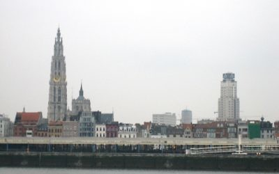 Vue sur Anvers (Crédit  : CC BY-SA 3.0, by Bbd, Wikimedia Commons)