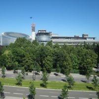 La Cour européenne des droits de l'homme à Strasbourg. (Crédit : Sfisek/WikiCommons)