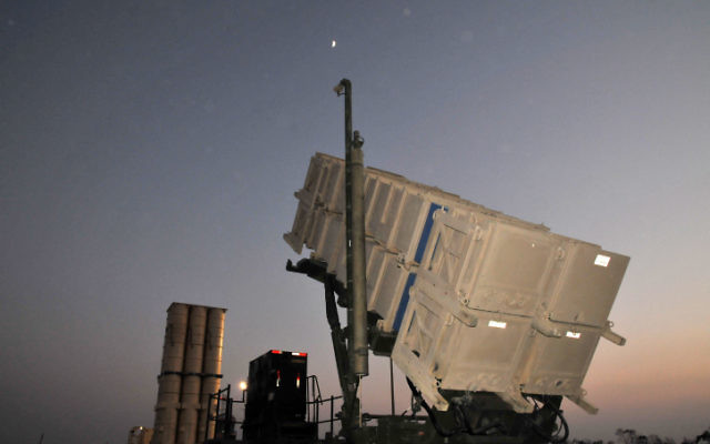 Un missile Patriot (Crédit : Flash 90)