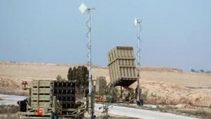 Le système antimissile Dôme de fer (Crédit : Flash90)