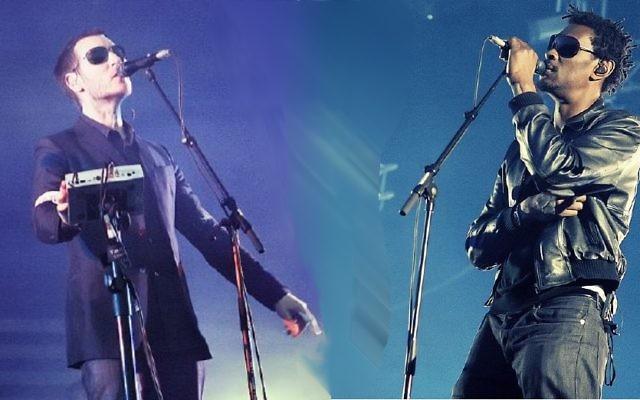 2 membres du groupe Massive Attack (Crédit : Jezhotwells /Wikimedia communs/CC BY SA 3.0)