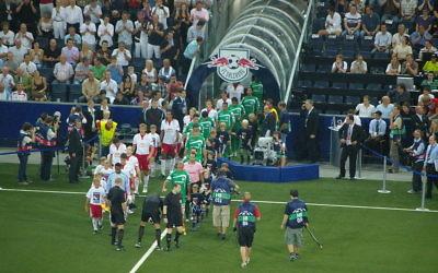 Match du Maccabi Haïfa en 2009 (Crédit : Werner100359/wiki)