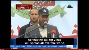 Fathi Hammad demande aux Palestiniens de Cisjordanie d'attaquer les Israéliens (Crédit : MEMRI)