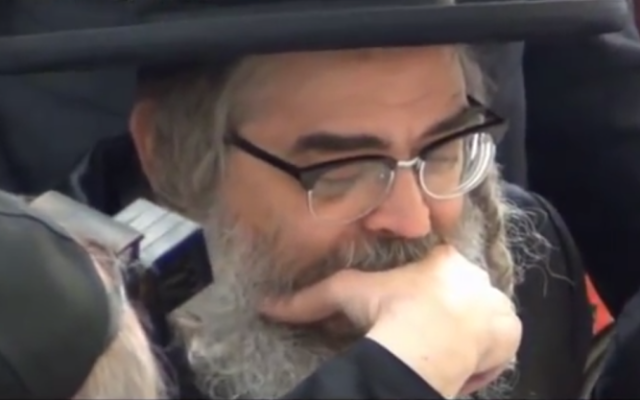 Le Rebbe de Satmar Aaron Teitelbaum (Capture d'écran Youtube)