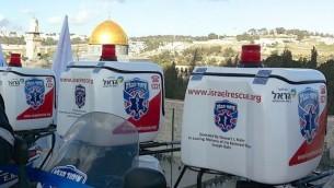 Patrouilles de Israel Hatzolah (Crédit : autorisation)