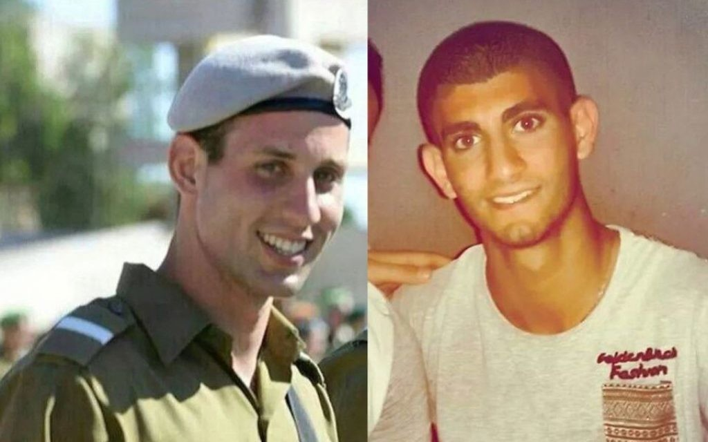 Second Lieutenant Bar Rahav, 21, (gauche) et le Sergent Bnaya Rubel, 20, morts au combat à Gaza - 19 juillet 2014. (photo credit: Facebook)