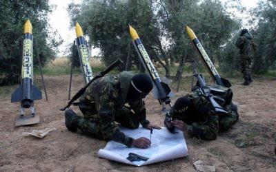 Des membres du Jihad islamique (Crédit : Flash90/File)
