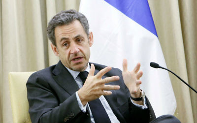 Nicolas Sarkozy (Crédit : Miriam Alster/Flash 90)