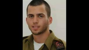 Oron Shaul - soldat qu était présumé manquant  a été déclaré mort par l'armée (Crédit : IDF)