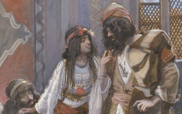 """Tableau """"La prostituée de Jéricho et les deux espions"""", 1896-1902, par James Jacques Joseph Tissot"""