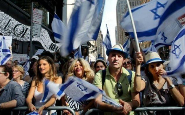 Rassemblement pro-israélien à Times Square - 20 Juillet 2014 à New York City (Crédit : AFP / Yana Paskova / Getty Images)